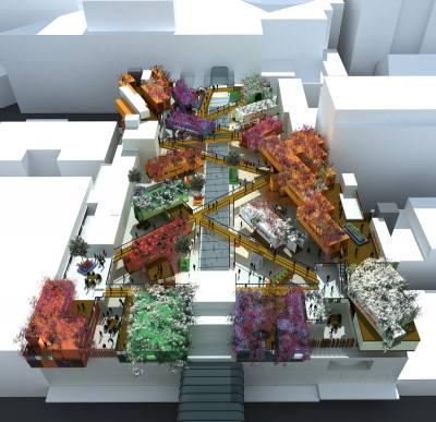 PHOOEY Architects Rooftop Retail Precinct