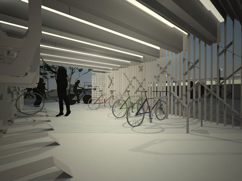Phooey architects winner of department of transport for Indoor cycle design