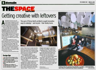 THE SUNDAY AGE The Space 13 Jun 2010 Getting Creative with Leftovers PHOOEY Architects Circle Place