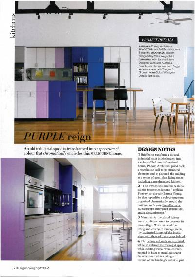 Vogue Living PHOOEY Kaleidoscope Kitchen
