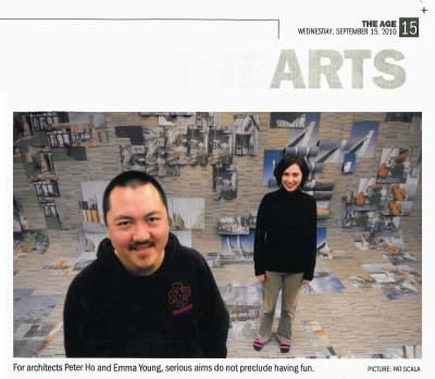 THE AGE The Arts 15 Sep 2010 Designers with attitude: making more out of less. PHOOEY Architects Upcycling Exhibition