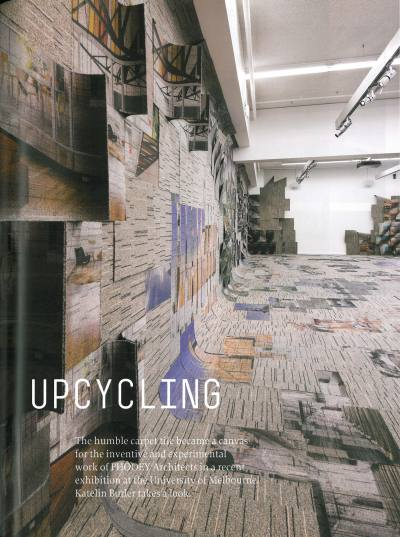 ARCHITECTURE AUSTRALIA 100 Jan/Feb 2011 PHOOEY Architects UpCycling Exhibition