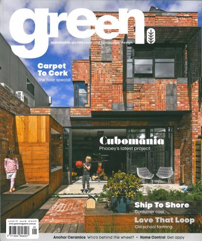 PHOOEY Architects Cubo House on the cover of Green Mag Issue 38