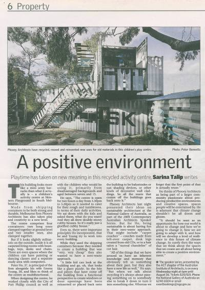 Canberra Times Property 2009 - A Positive Environment